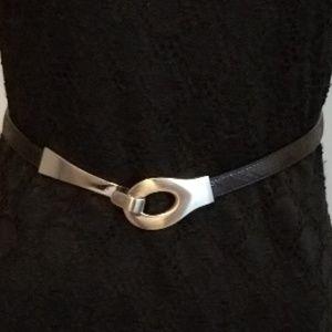 Matt Silver Buckle Belt